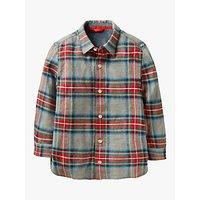 Mini Boden Boys' Brushed Check Shirt, Grey