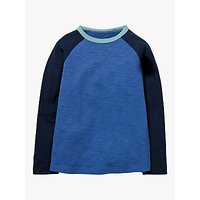 Mini Boden Boys' Raglan Sleeve T-Shirt, Navy