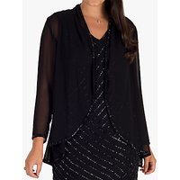 chesca Beaded Trim Shrug, Black