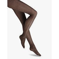 Wolford 20 Denier Mystic Amber Patterned Tights, Black