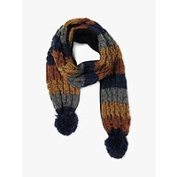 Fat Face Children's Colour Block Scarf, Orange