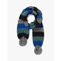 Fat Face Children's Colour Block Scarf, Blue