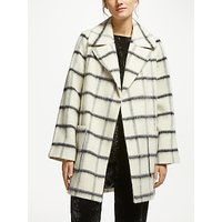 Great Plains Blurred Check Coat, Milk Combo