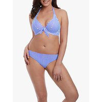 Freya Totally Stripe Bikini Top, Cobalt Blue