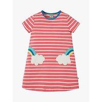 Frugi Children's Organic Cotton Stripe Rainbow Dress, Multi