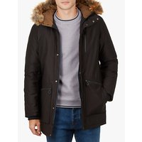 Ted Baker Gouda Faux Fur Hooded Parka, Black