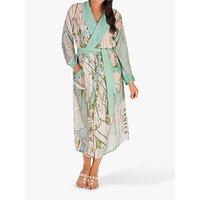 Chesca Venice Map Kimono, Green Multi