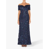 Adrianna Papell Sequin Sweetheart Gown Dress, Midnight