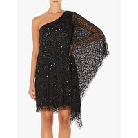 Adrianna Papell Short Beaded Kaftan Dress, Black