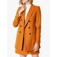 Karen Millen Longline Tailored Coat, Burnt Orange