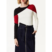 Karen Millen Colourblock Slim-Fit Top, Multi