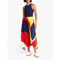 Polo Ralph Lauren Alyah Sleeveless Dress, Navy/Multi
