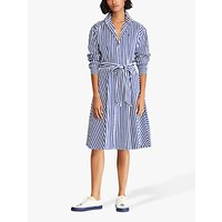 Polo Ralph Lauren Bengal Stripe Shirt Dress, Navy/White