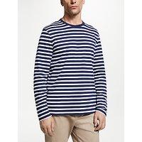 John Lewis & Partners Breton Stripe Long Sleeve T-Shirt, Blue
