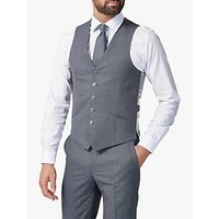 Richard James Mayfair Melange Sharkskin Slim Waistcoat, Grey