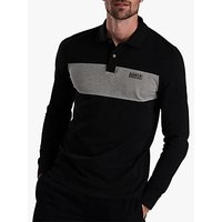 Barbour International Shift Long Sleeve Polo Shirt, Black