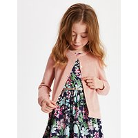 John Lewis and Partners Girls Sparkly Cardigan, Pink