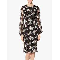 Gina Bacconi Malwina Floral Dress, Black Multi
