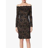 Gina Bacconi Colleen Bardot Lace Dress, Black