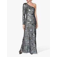 shop for Gina Bacconi Contessa Sequin One Shoulder Maxi Dress at Shopo