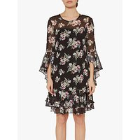 Gina Bacconi Layton Floral Dress, Black Multi