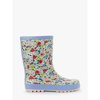 John Lewis & Partners Children's Floral Wellington Boots, Multi