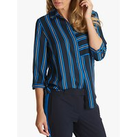 Betty Barclay Sporty Striped Blouse, Dark Blue/white