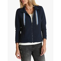 Betty Barclay Textured Funnel Neck Cardigan, Night Sky