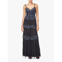Adrianna Papell Botanical Beaded Maxi Dress, Blue