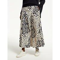 Essentiel Antwerp Sturdy Leopard Print Skirt, Cream/Navy