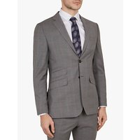Ted Baker Vikon Wool Check Tailored Suit Jacket, Grey