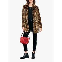 hush Lizzy Leopard Faux Fur Coat, Brown