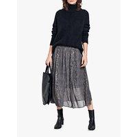 hush Marina Snake Print Skirt, Grey