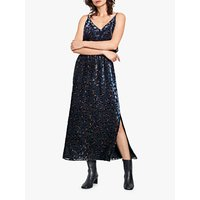 hush Devore Maxi Skirt, Black/Navy