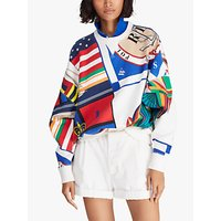 Polo Ralph Lauren Sailboat Fleece Back Sweatshirt, Deckwash White