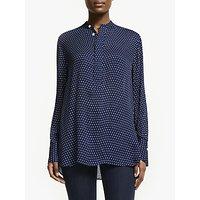 Polo Ralph Lauren Desra Polka Dot Silk Shirt, Blue