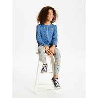 John Lewis & Partners Girls' Butterfly Print Leggings, Grey