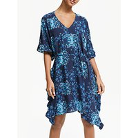Seafolly Ruffled Floral Beach Cover Up, Blue