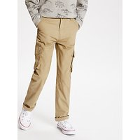 John Lewis and Partners Boys Lined Cargo Trousers, Sand