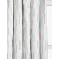 little home at John Lewis Fragments Pencil Pleat Blackout Lined Childrens Curtains, Ash Rose