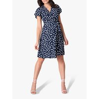 Séraphine Atara Floral Maternity Dress, Navy
