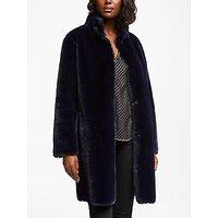 Velvet by Graham & Spencer Mina Faux Fur Coat, Navy