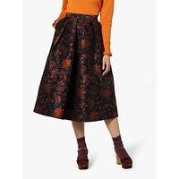 L.K.Bennett Delysia Skirt, Black Multi