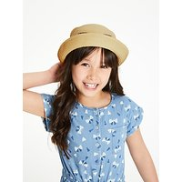 John Lewis and Partners Childrens Cat Straw Hat, Neutral