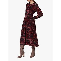 L.K.Bennett Julisa Floral Silk Dress, Pre-Red Multi