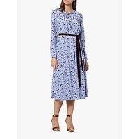 L.K.Bennett Yadi Floral Tie Waist Dress, Pale Blue