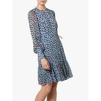 L.K.Bennett Dakota Animal Print Dress, Blue