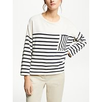 Weekend MaxMara Stripe Jersey Top, White