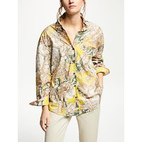 Weekend MaxMara Floral Print Blouse, Yellow/Multi