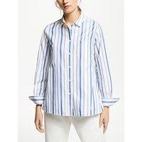 Weekend MaxMara Stripe Cotton Blouse, Blue/White